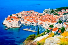 Dubrovnik, picturesque view on the old town (medieval Ragusa)